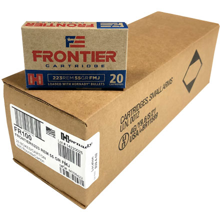 Frontier 223 Remington 55 Grain Full Metal Jacket 500 Round Case