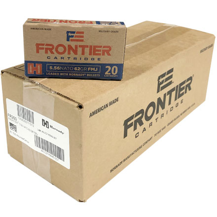 5.56 Nato 62 Grain Full Metal Jacket 500 Round Case
