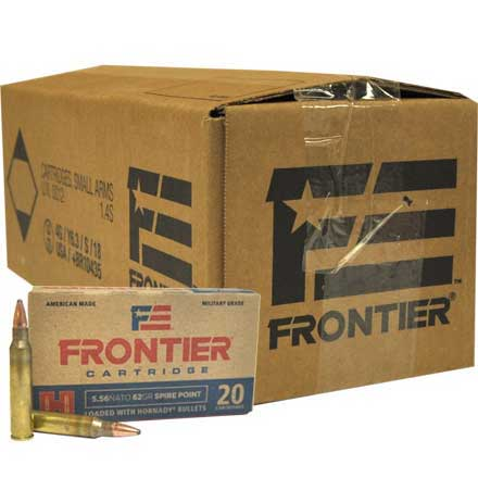 5.56 Nato 62 Grain Spire Point 500 Rounds/Case