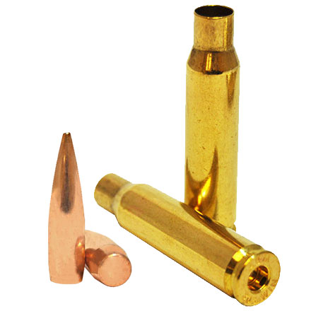 Berger Match Grade Loader Pack .308 Diameter 155 Grain VLD and .308 ABM Brass (100 Count Each)