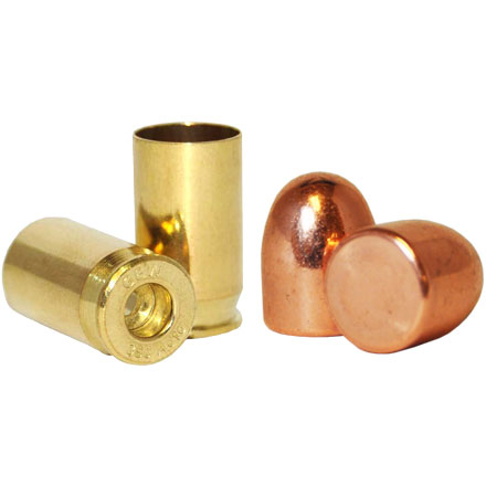380 Auto Loader Pack .356 Dia 100 Grain Plated Bullets With Brass(1000 Bullets & 500 380 Auto Brass)