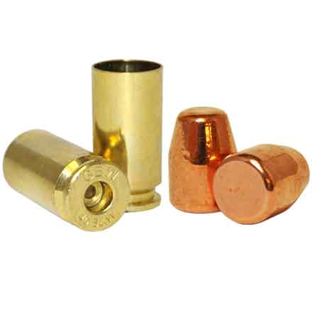 40 S&W Loader Pack .401 Dia 165 Grain Plated Bullets With Brass(1000 Bullets & 500 40 S&W Brass)