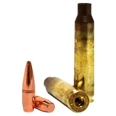 5 56 Loader Pack  224 Dia 62 Grain BTHP Bullets With Lake City 5 56 Brass  (500 Bullets & 250 Brass)