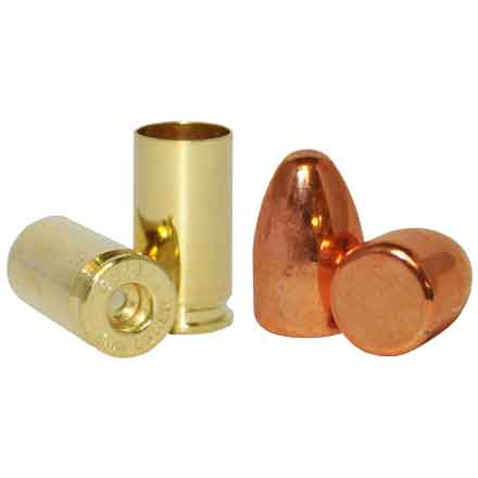 9mm Loader Pack .356 Dia 115 Grain Plated Bullet With Brass (1000 RN Plated Bullets & 500 9mm Brass)