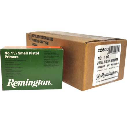 1 1/2 Small Pistol Primer 5000 Count Case