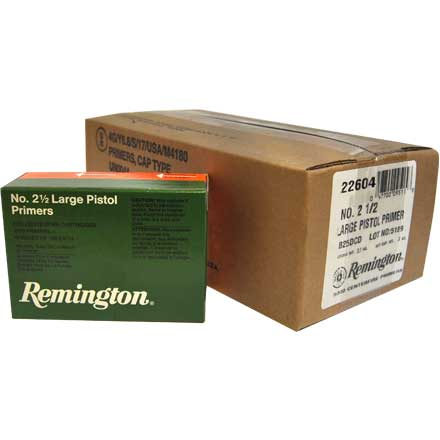 2 1/2 Large Pistol Primer 5000 Count Case