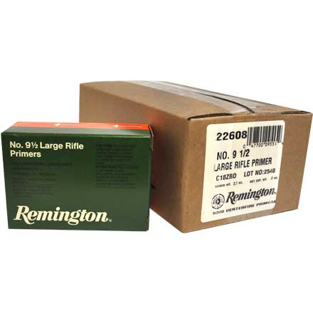 9 1/2 Large Rifle Primer 5000 Count Case