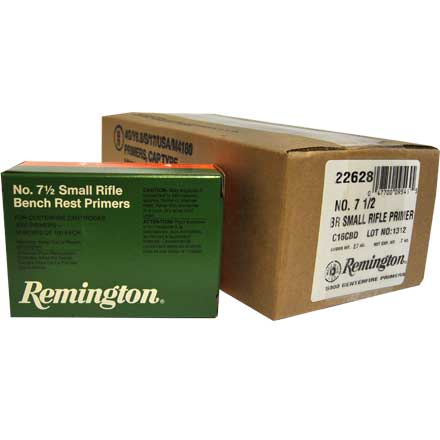 7 1/2 Bench Rest Small Rifle Primer 5000 Count Case