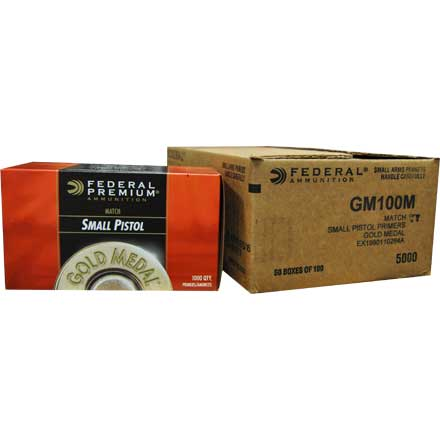 Gold Medal Small Pistol Match Primer #GM100M (5000 Count Case)