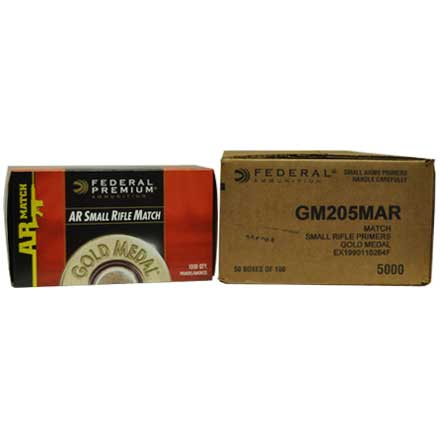 Gold Medal AR Small Rifle Primer #GM205MAR (5000 Count Case)