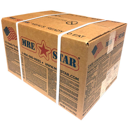 MRE STAR 12 pack case with (6 Varieties: 2 of Each) NO Heater