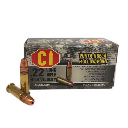 Cascade 22LR 37 grain Copper Plated Hollow Point 50 Rounds