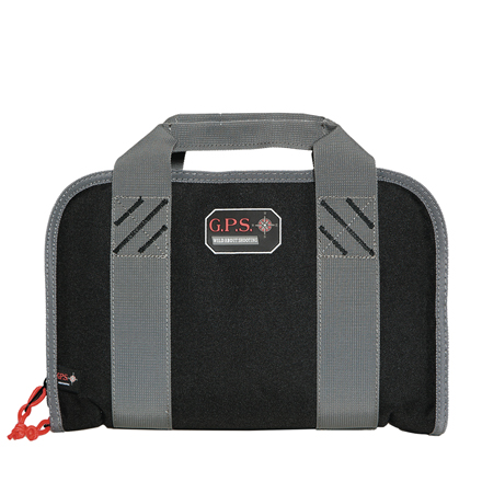 Double Pistol Case with Mag Storage & Dump Cup Black