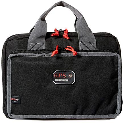 Quad Pistol Range Bag with Mag Storage & Dump Cups Black