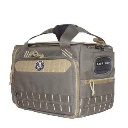 M/L Range Bag with Foam Cradle for 4 Handguns & 2 Ammo Dump Cups Rifle Green/Khaki