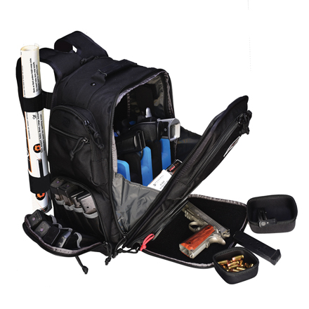 Executive Backpack with Cradle for 5 Handguns Black