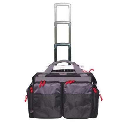 Rolling Range Bag with Telescoping Handle Black