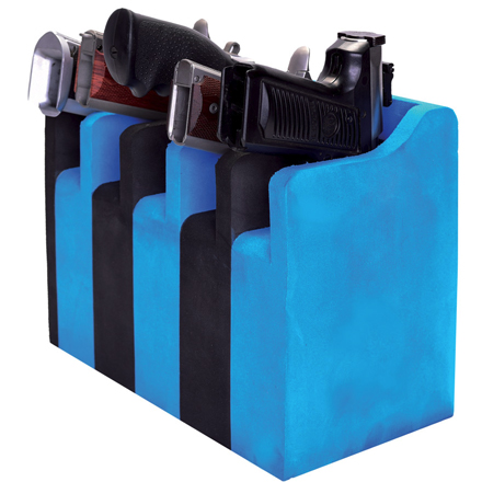 5 Pistol Soft Cradle Foam Vertical Frame Holder Black/Blue