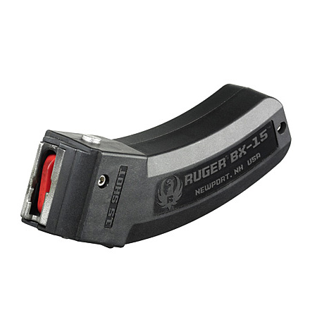 BX-15 .Ruger 22 LR 15 Round Magazine for 10/22,  SR22,  22 Charger, American Rimfire Rifle and 77/22