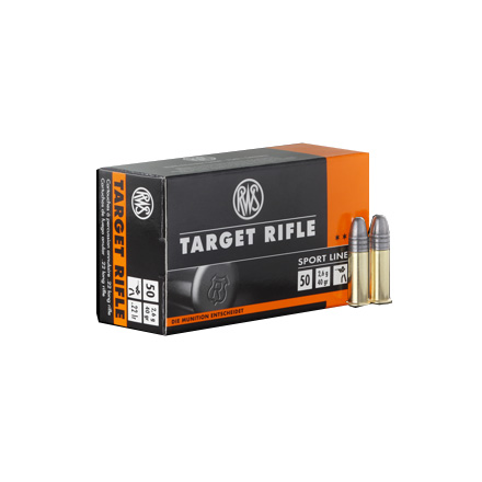 RWS 22 LR (Long Rifle) 40 Grain Target Rifle Ammo 50 Rounds