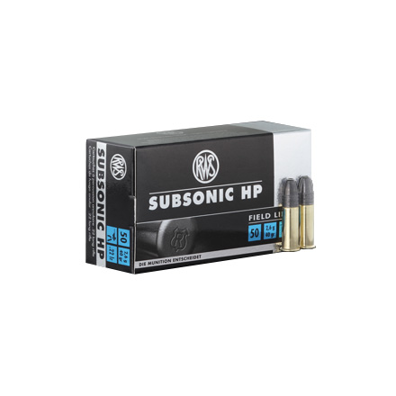 RWS .22 LR (Long Rifle) Subsonic Ammo 50 Rounds