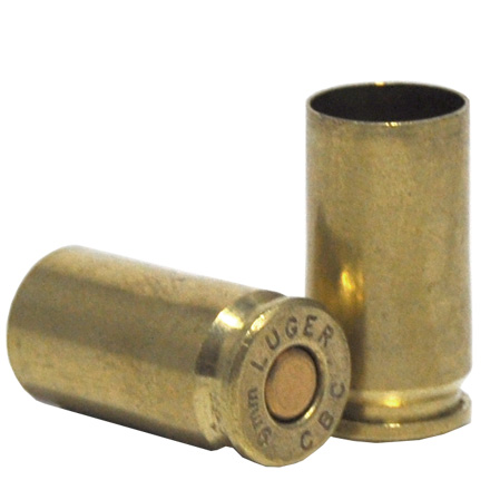 Image for 9mm Once Fired Remanufactured New Primed Pistol Brass Mixed Head Stamps 250 Count