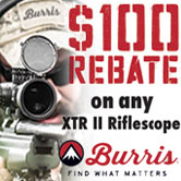 $100 Mail-in Rebate on XTR II Riflescopes