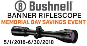 Bushnell Banner Riflescope $30 Reward