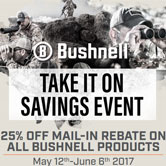 Bushnell 25% off for 25 days