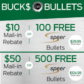 Up to $50 Bucks OR 500 Free Bullets