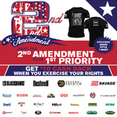 Receive up to $10 back by mail-in rebate and a 2nd Amendment t-shirt