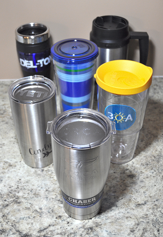 All travel mugs used in Yeti Comparison